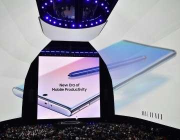 Samsung presentó su nuevo smartphone de alta gama. Foto: AFP