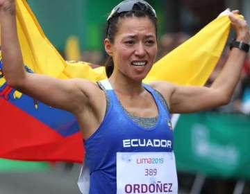 Johanna Ordóñez, celebrando su logro deportivo.