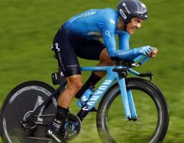 Richard Carapaz, ciclista de Movistar Team.