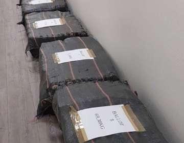 Droga fue hallada en un cargamento de cogollos de palmitos. Foto: AFP