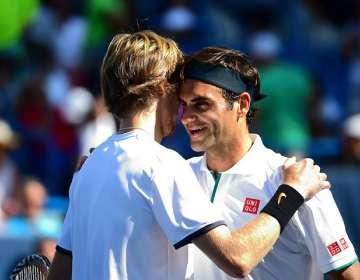 Federer luego de perder esta tarde. Foto: @CincyTennis.