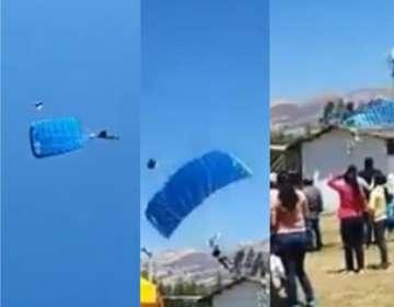 CAJAMARCA, Perú.- El accidente fue grabado con celulares de aficionados.