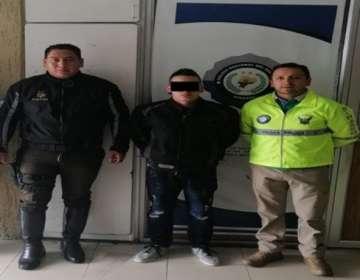 El sospechoso es de origen colombiano. Foto: Policía.