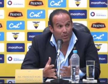 El presidente de la Federación Ecuatoriana de Fútbol explicó como financiarán el nuevo DT. Foto: captura de pantalla