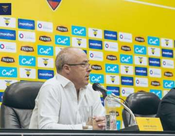 Jorge Célico, entrenador de Ecuador Sub 20.