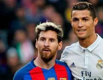 Messi y Cristiano en un partido de La Liga.