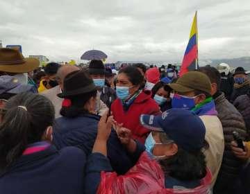 Yaku Pérez encabeza marcha indígena por la transparencia en el conteo de votos