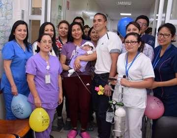 QUITO, Ecuador.- La niña nació el 10 de julio de 2018. Foto: Hospital Carlos Andrade Marín