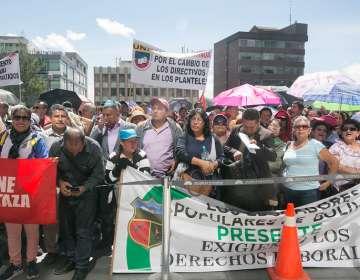 Marcha de la UNE a la Asamblea Nacional