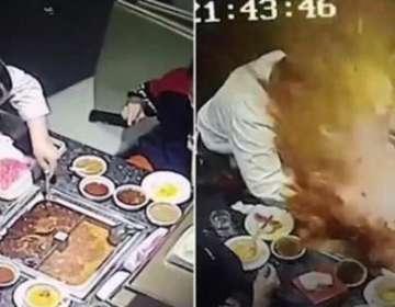 Olla hirviendo explotó en el rostro a una camarera en China