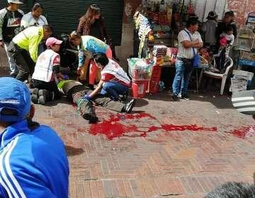 Policía fue apuñalado en la pierna por un delincuente en Quito