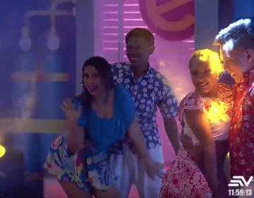 """La máquina del baile VIP: Angélica Arriciaga y """"compadre 7 vidas"""""""