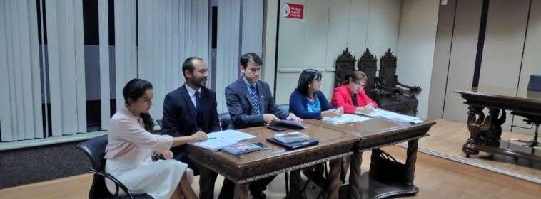 Audiencia de la Corte Nacional de Justicia. Foto: @Marcelo_MataG