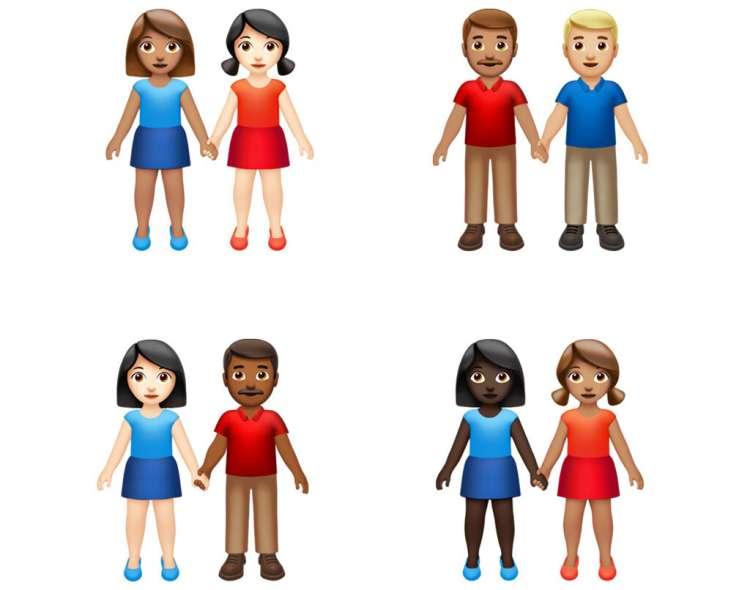 Esta imagen proporcionada por Apple muestra los nuevos emojis. Foto: AP