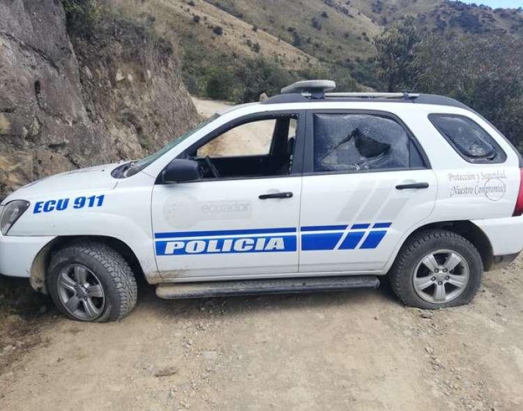 La funcionaria publicó un video del escape de los presuntos agresores en un camión. Foto: Min. Interior