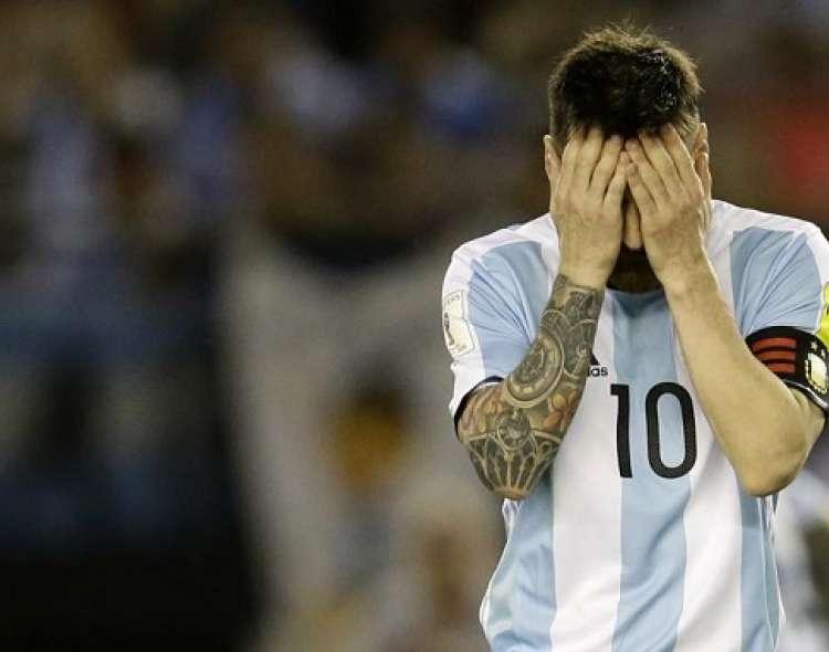 Messi lamenta una derrota de su país.