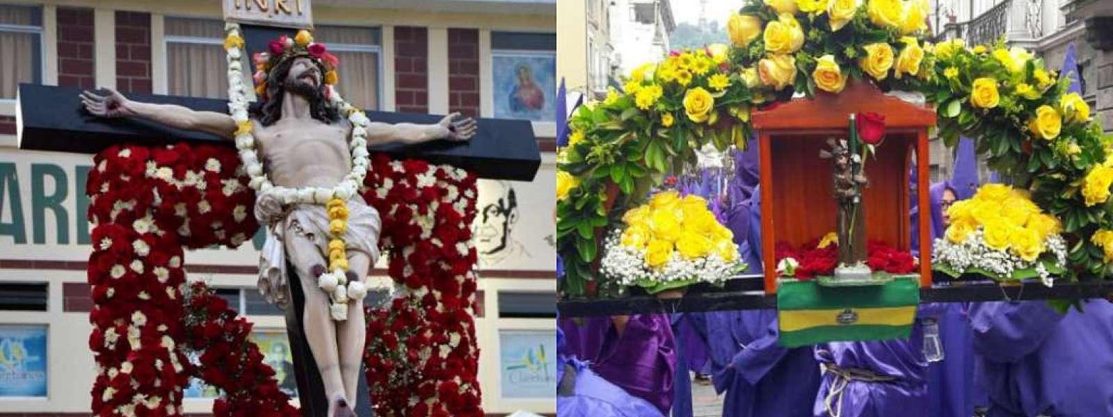 ECUADOR.- La fe se consolidó en caminatas del Cristo del Consuelo y de Jesús del Gran Poder. Collage: Ecuavisa