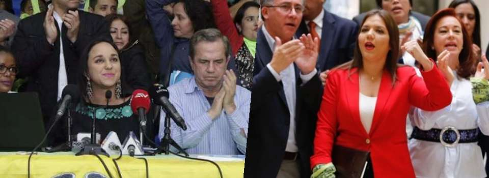 ECUADOR.- Una de las divergencias surgidas en Alianza PAIS durante el 2017 fue por la directiva nacional del movimiento oficialista. Fotos: API, Collage: Ecuavisa