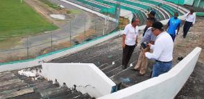 El estadio Folke Anderson en Esmeraldas fue el más afectado por el terremoto de abril 2016.
