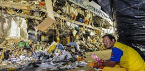 El sismo en Ecuador cobró la vida de más de 160 personas solo en Portoviejo. Foto: Cortesía Revista Vistazo