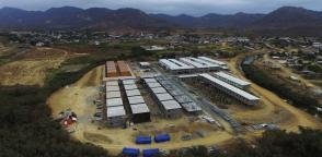 MANABÍ, Ecuador.- Un informe del Comité de Reconstrucción y Reactivación Productiva señala que casi 30.000 de más de 45.000 viviendas están en construcción. Foto: Secretaría Técnica de Reconstrucción