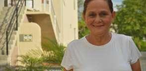 Sarita Medranda perdió su casa y su empleo en Portoviejo, pero mantiene su fe inquebrantable.