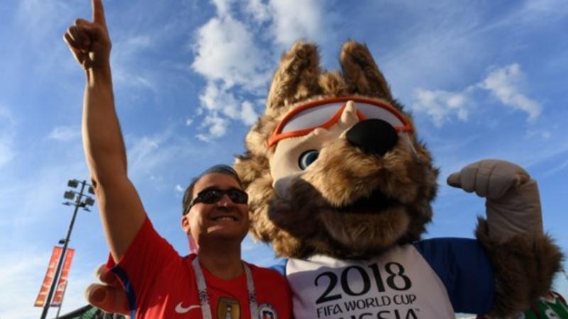 Camerún y Chile en el Estadio Spartak en Moscú el 18 de junio de 2017 / Fotos: AFP