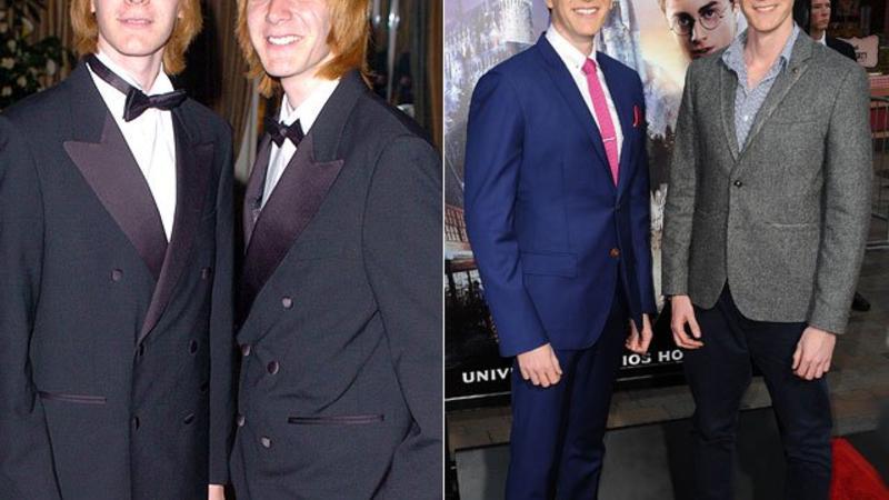 JAMES & OLIVER PHELPS Los actores que interpretaron a Fred y George Weasley, hermanos gemelos de Ron Weasley, el mejor amigo de Harry en la saga, desde entonces han actuado juntos en las películas Patchwork y My Own Worst Enemy