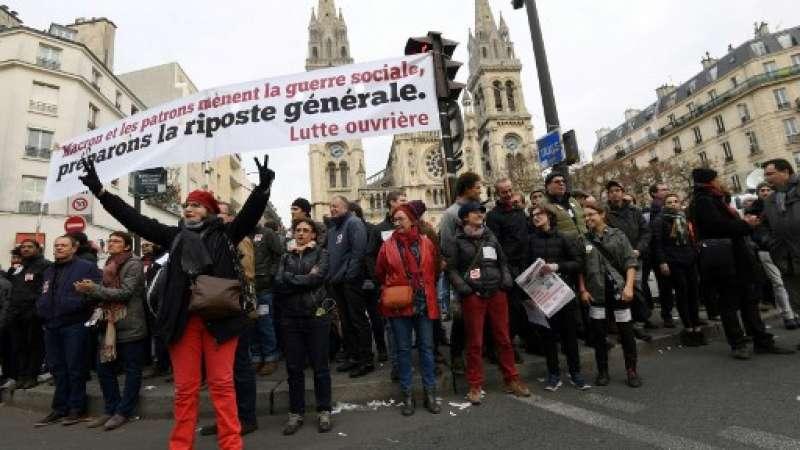 Un día de protesta nacional contra las reformas económicas y sociales del gobierno