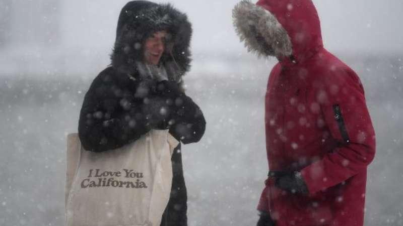 tormenta invernal en Nueva York