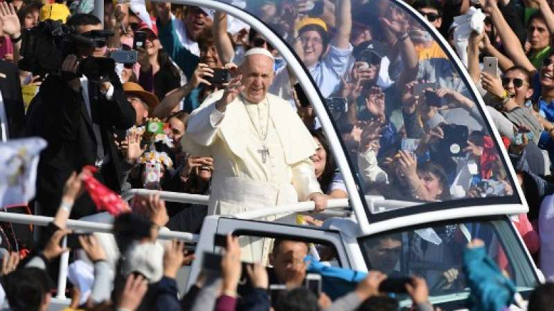 Visita del Papa Francisco a Chile / Fotos: AFP