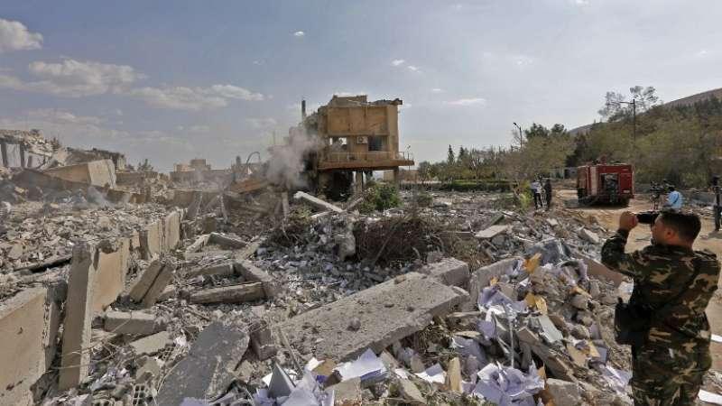 Bombardeos en Siria