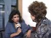 Tania Tinoco durante una entrevista a la actriz Angélica María. Foto: Ecuavisa