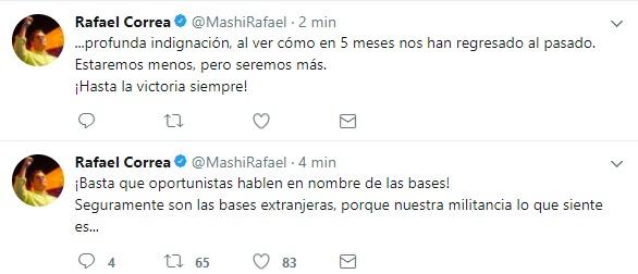 Rafael Correa reacciona a decisión de AP