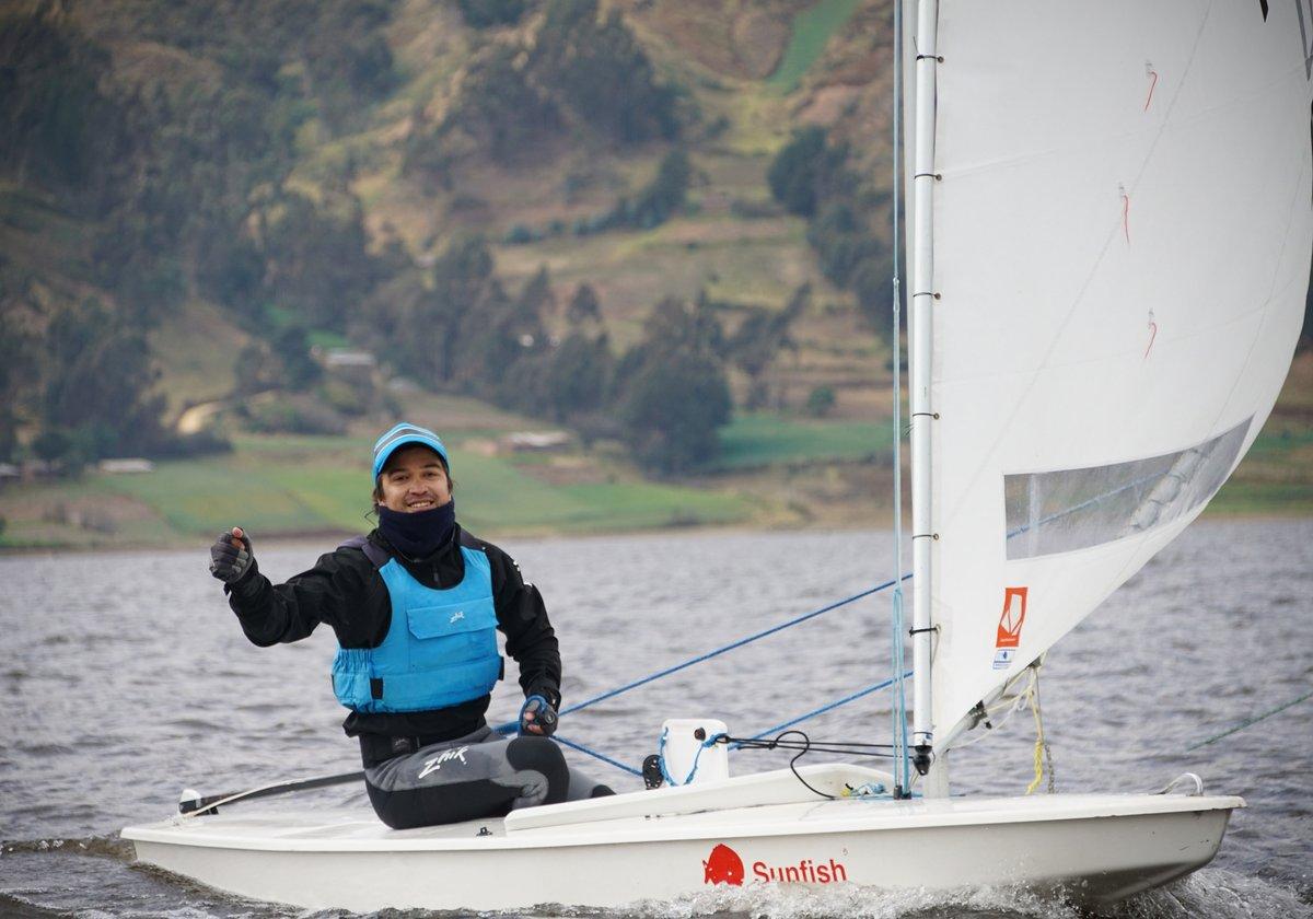 Jonathan Martinetti obtuvo una condecoración dorada por competir en vela. Foto: COE