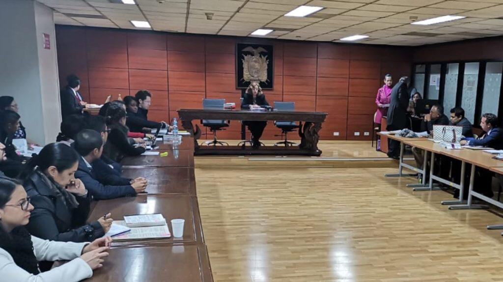 Momento de la audiencia de formulación de cargos en la Corte Nacional de Justicia.