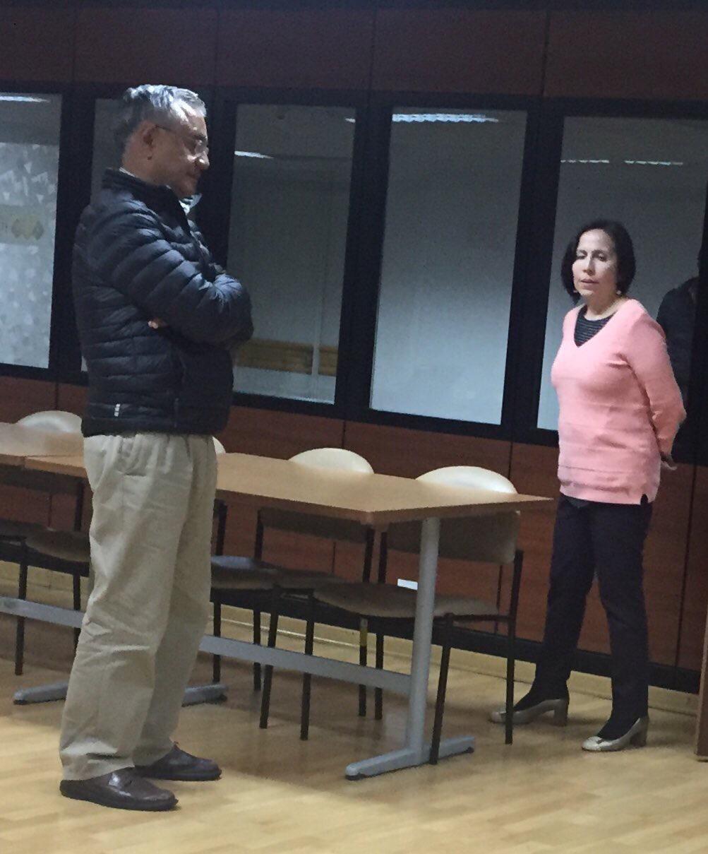 Alexis Mera y María de los Ángeles Duarte, durante la audiencia de formulación de cargos.